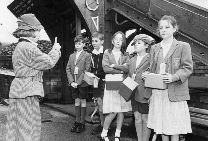 The Evacuees at Haverthwaite Station